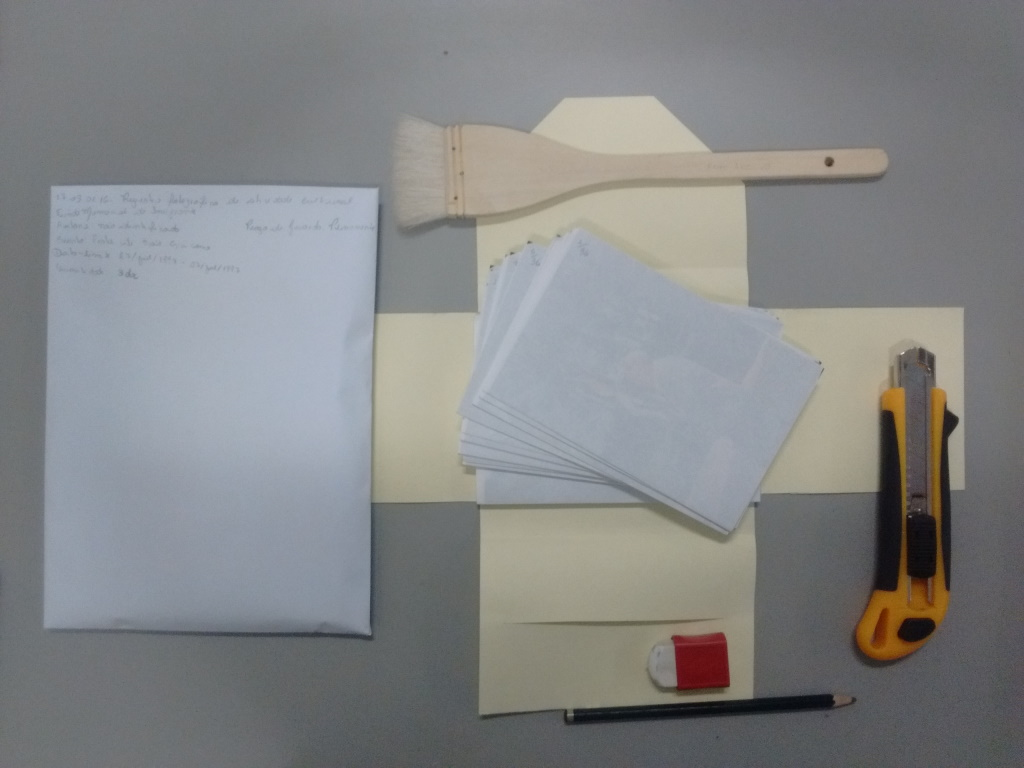 materiais para guarda de fotos