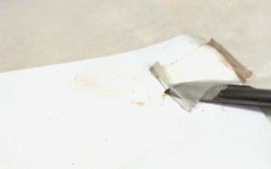 remoção de adesivo